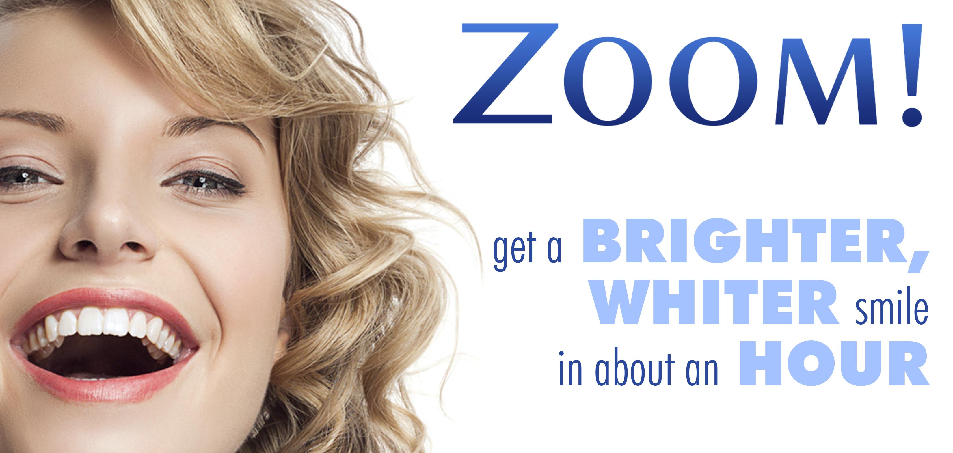 Zoom light teeth whitening